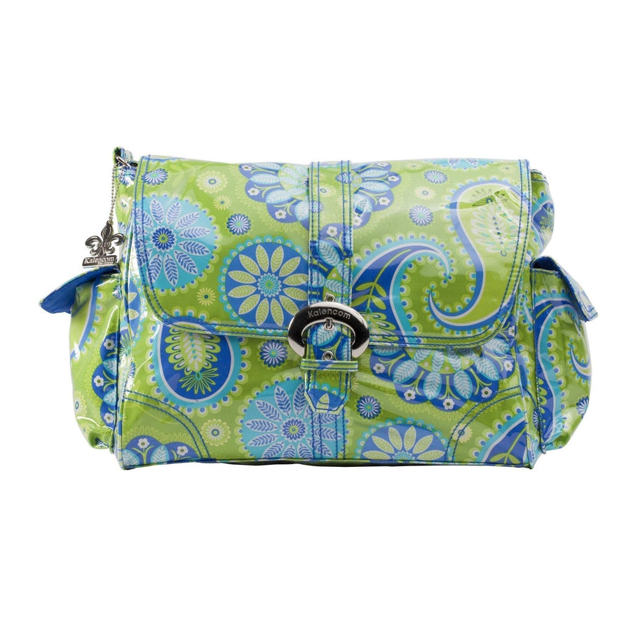 Gypsy Paisley Green Laminated Buckle Diaper Bag | Style 2960 - Kalencom