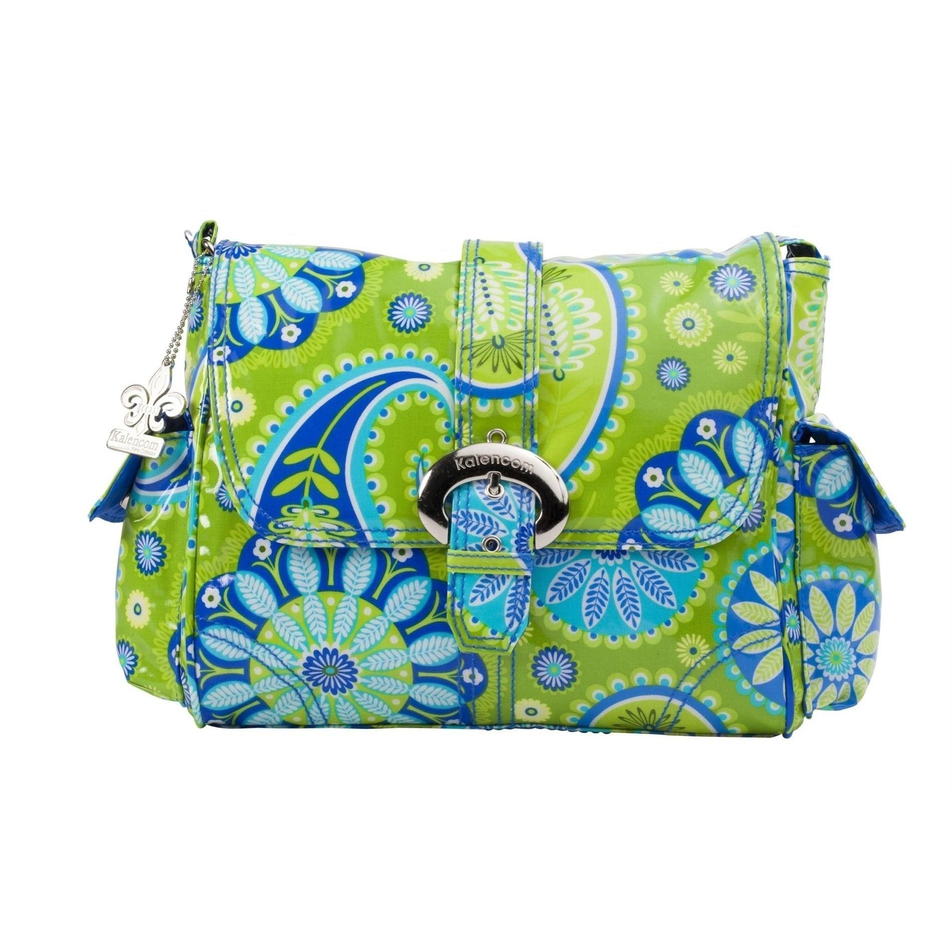 Gypsy Paisley Green Midi Coated Buckle Diaper Bag | Style 2959 - Kalencom-Diaper Bags-Default-Jack and Jill Boutique
