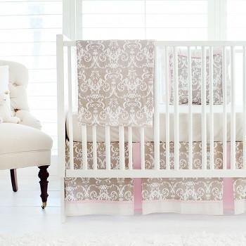 Halle Damask Baby Bedding Set-Crib Bedding Set-Default-Jack and Jill Boutique