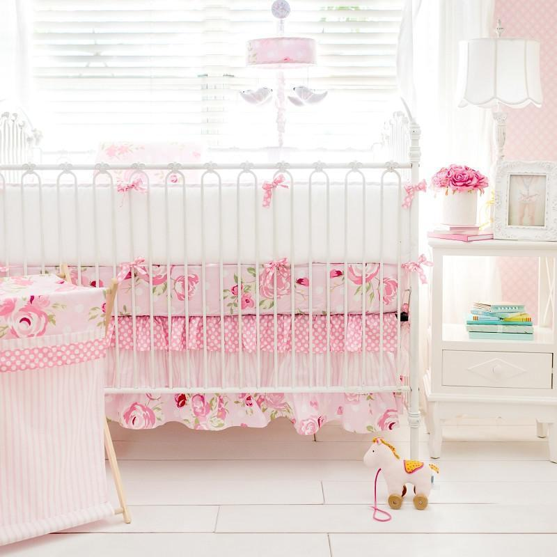 Hamper | Rosebud Lane Floral Crib Baby Bedding Set