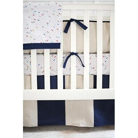 Happy Camper Navy and White Baby Bedding Set-Crib Bedding Set-Jack and Jill Boutique
