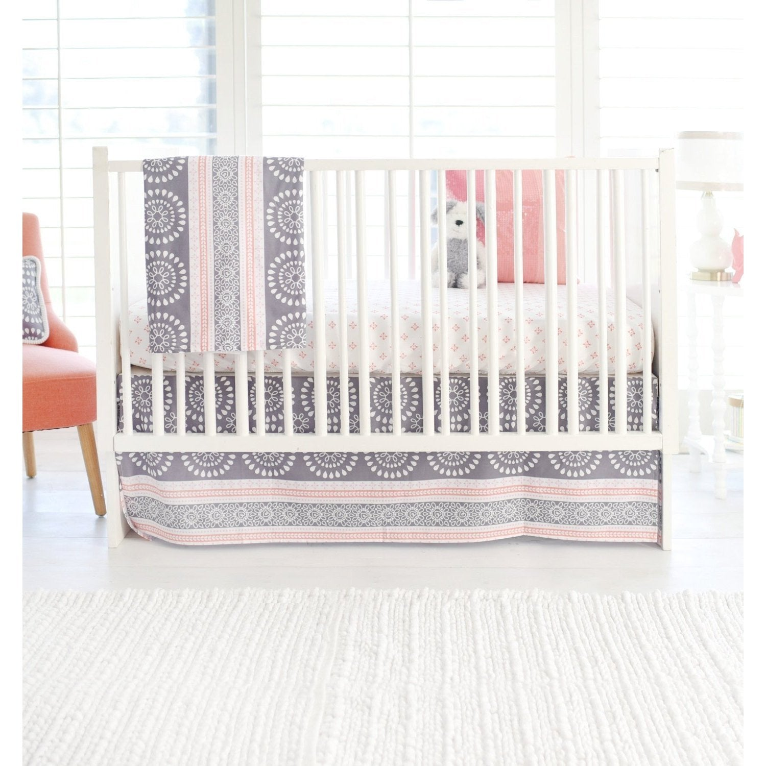Harper in Coral Baby Bedding Set-Crib Bedding Set-Jack and Jill Boutique