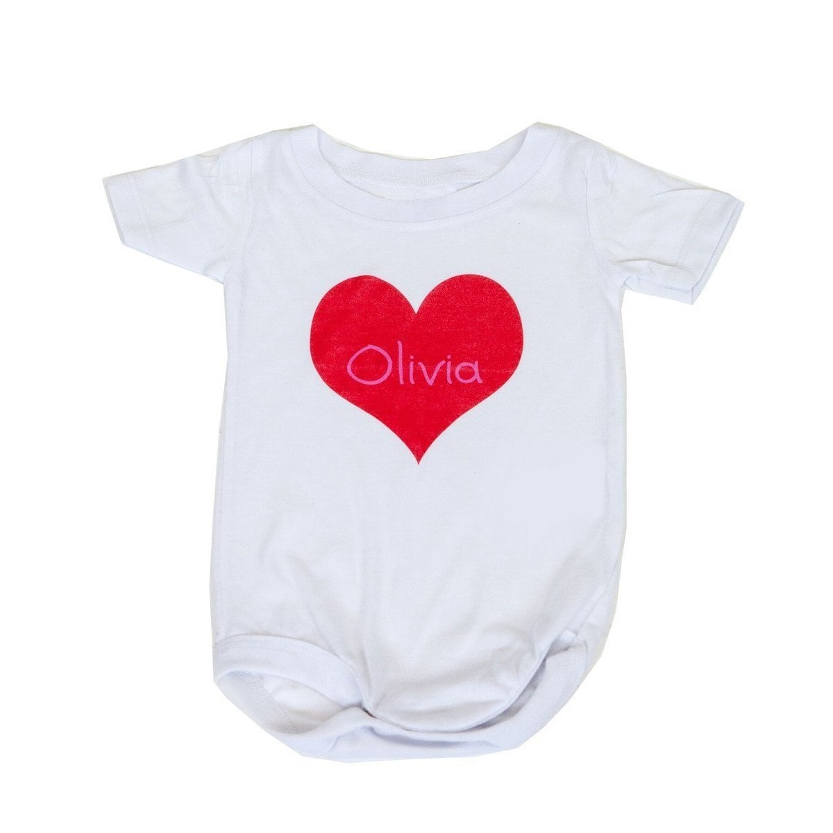 Heart & Name Personalized Onesie-Onesie-Butterscotch Blankees-Jack and Jill Boutique