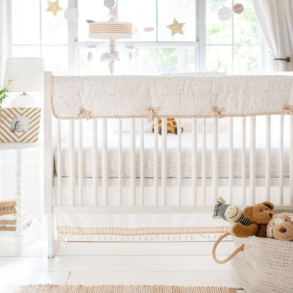Elephant Crib Bedding | 9 Piece Heart of Gold Collection-Crib Bedding Set-Jack and Jill Boutique