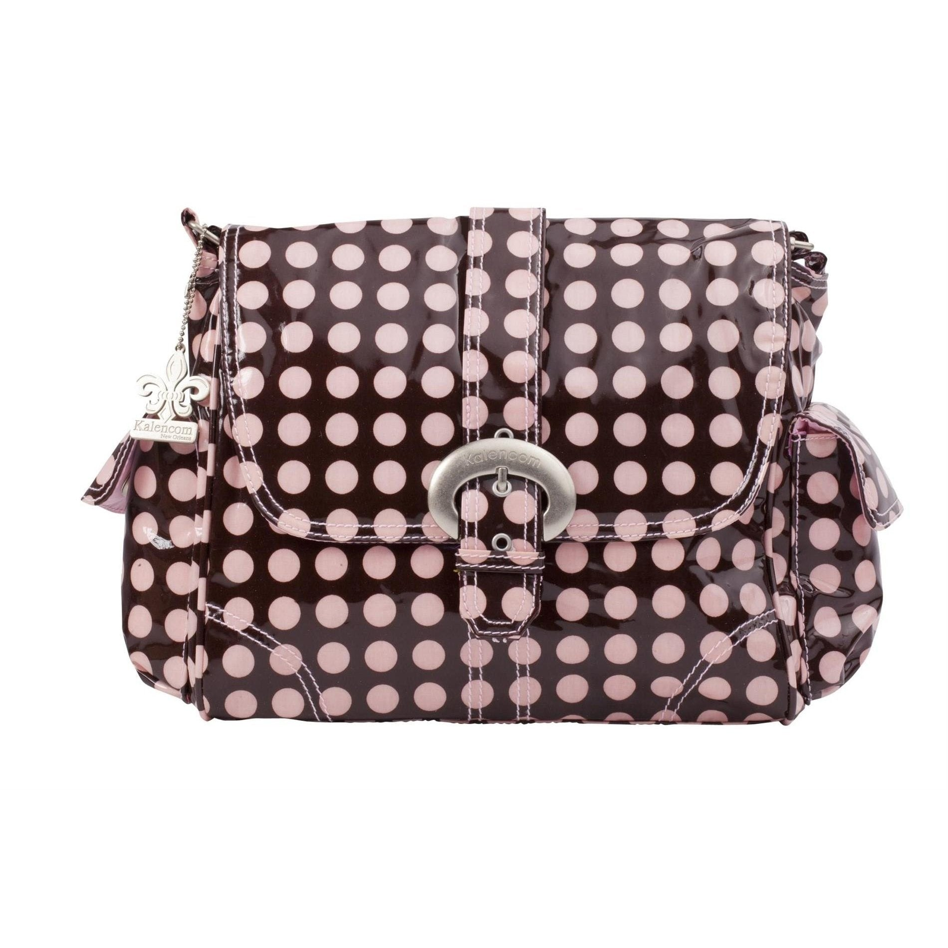 Heavenly Dots - Chocolate-Pink Midi Coated Buckle Diaper Bag | Style 2959 - Kalencom-Diaper Bags-Default-Jack and Jill Boutique