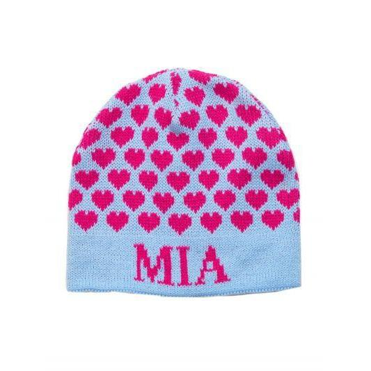 Heavenly Hearts Personalized Knit Hat-Hats-Jack and Jill Boutique