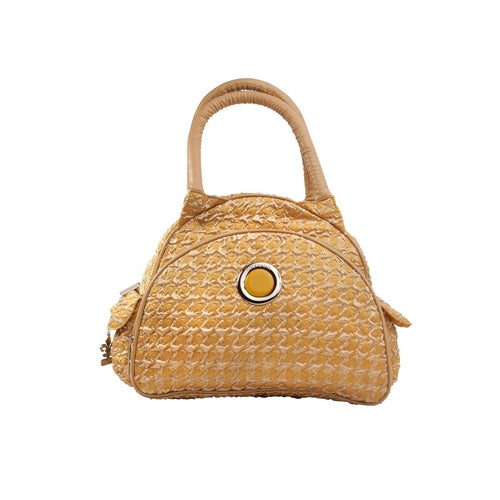 Herringbone Gold Continental Flair Diaper Bag | Style 2979 - Kalencom-Diaper Bags-Jack and Jill Boutique