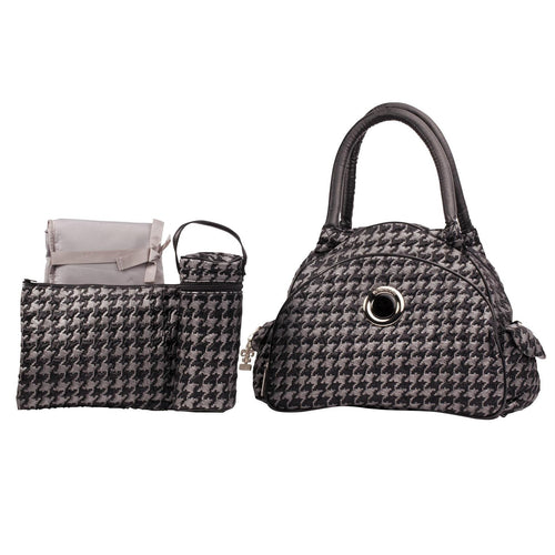 Herringbone Silver Continental Flair Diaper Bag | Style 2979 - Kalencom-Diaper Bags-Jack and Jill Boutique