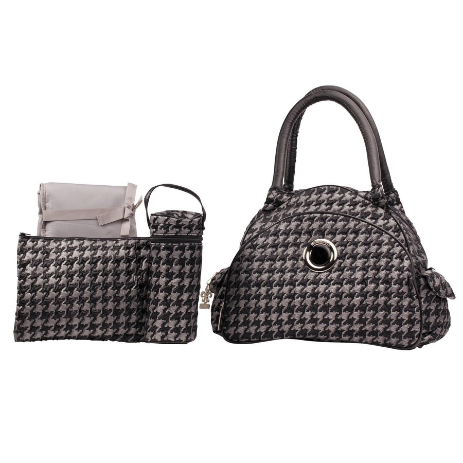 Herringbone Silver Continental Flair Diaper Bag | Style 2979 - Kalencom-Diaper Bags-Default-Jack and Jill Boutique