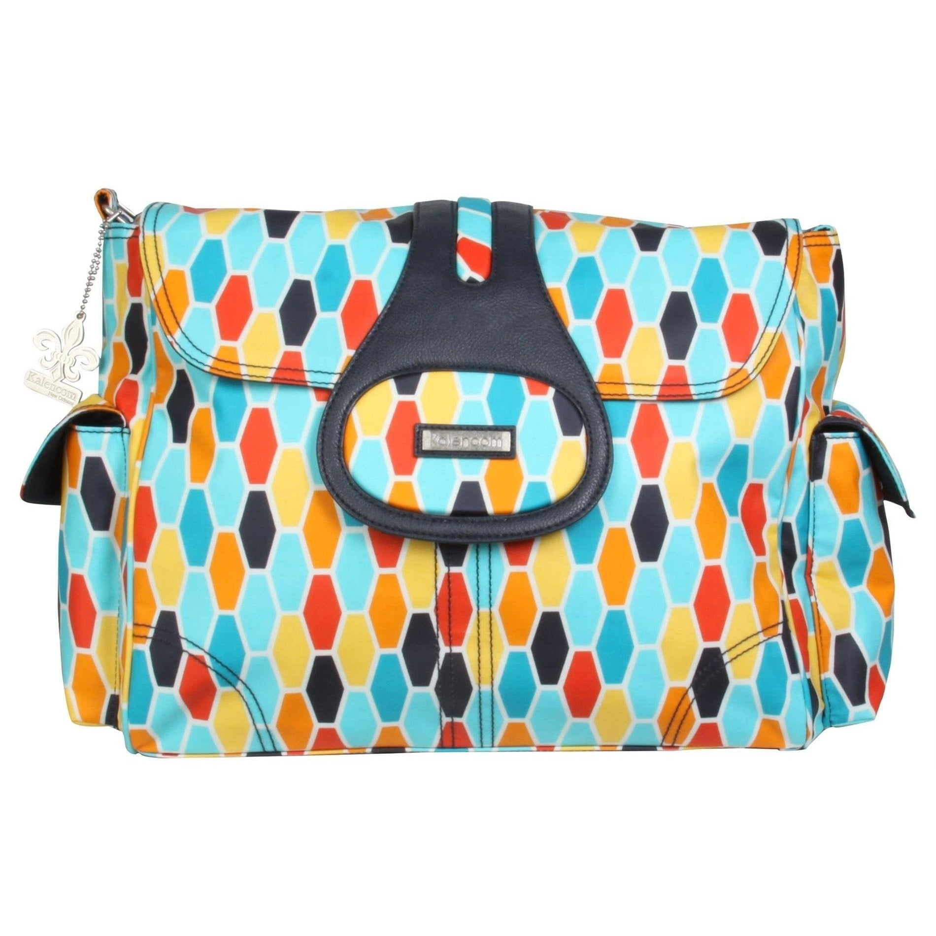 Honeycomb Orange Elite Matte Coated Diaper Bag | Style 2975 - Kalencom-Diaper Bags-Default-Jack and Jill Boutique
