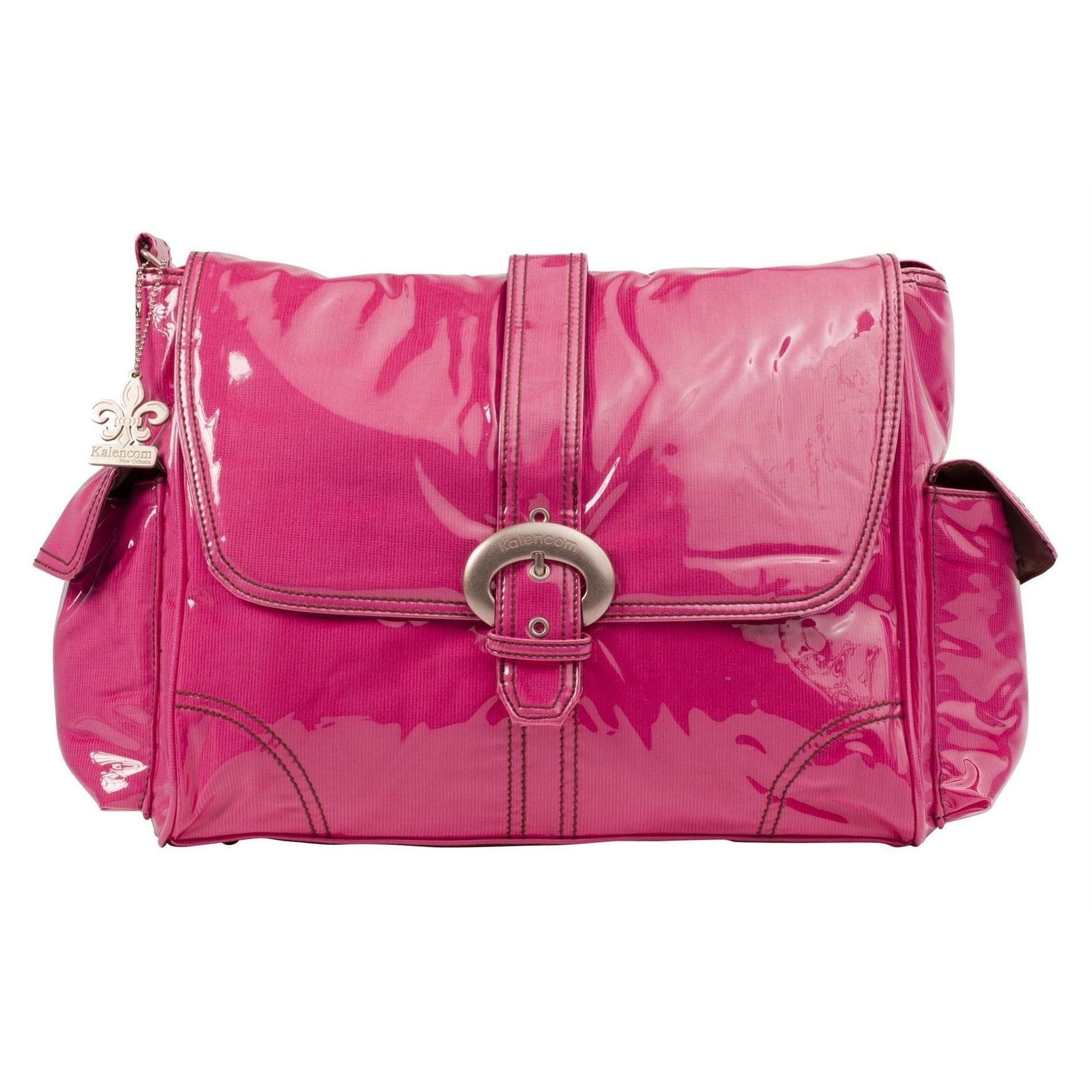 Hot Pink Corduroy Laminated Buckle Diaper Bag | Style 2960 - Kalencom-Diaper Bags-Jack and Jill Boutique