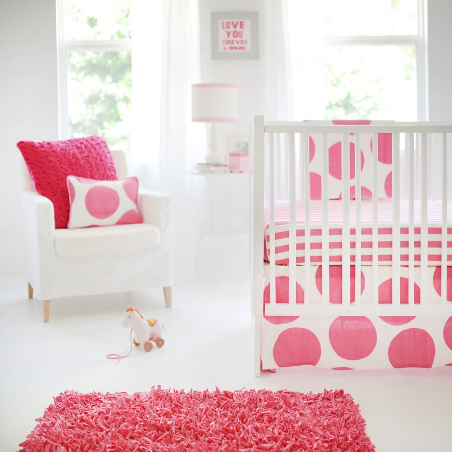 Hot Pink Spot On Fuchsia Baby Bedding Set-Crib Bedding Set-Default-Jack and Jill Boutique