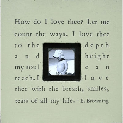 "Handmade Wood Photobox with quote ""How Do I Love Thee""-Photoboxes-Default-Jack and Jill Boutique"