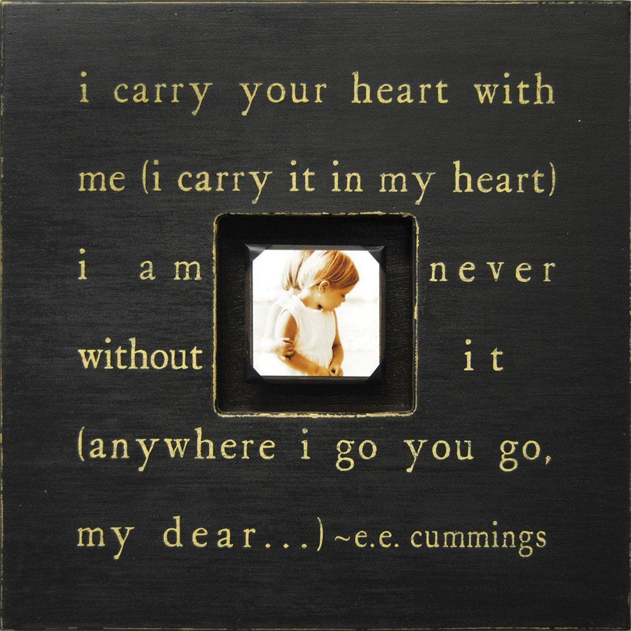 "Handmade Wood Photobox with quote ""I Carry Your Heart""-Photoboxes-Default-Jack and Jill Boutique"