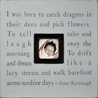 "Handmade Wood Photobox with quote ""I Was Born to Catch Dragons""-Photoboxes-Default-Jack and Jill Boutique"