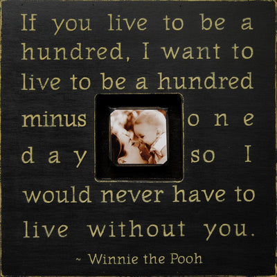 "Handmade Wood Photobox with quote ""If You Live to Be""-Photoboxes-Default-Jack and Jill Boutique"