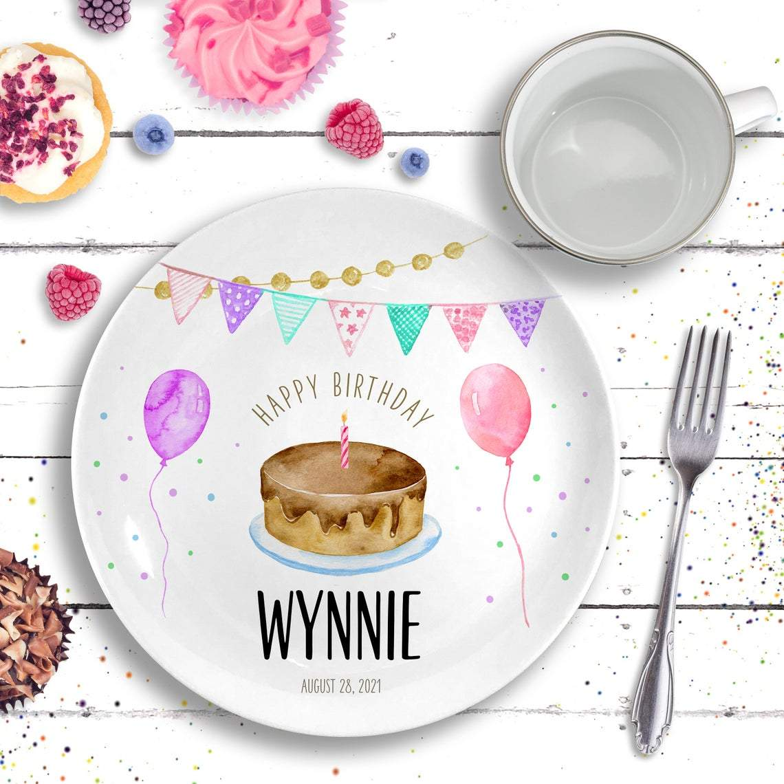 Birthday Plate - Personalized Birthday Gift Boy / Girl - Sprinkles Birthday Party-Gifts-Plate-Boy-Jack and Jill Boutique
