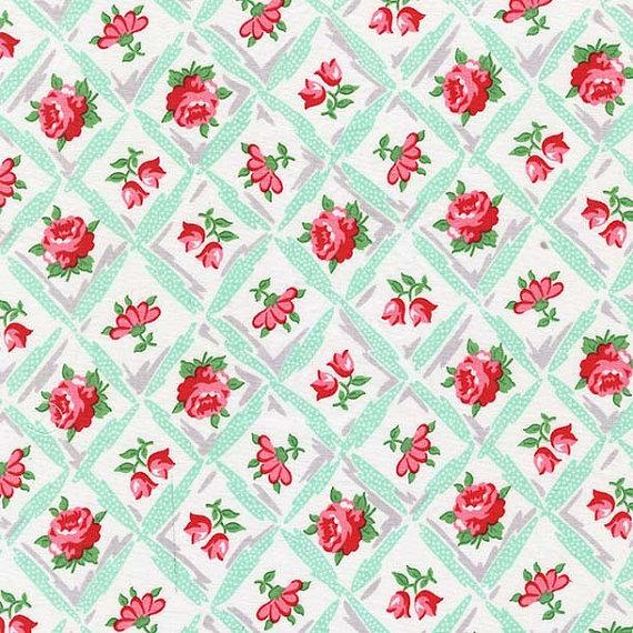 Annette Aqua Fabric by the Yard | 100% Cotton-Fabric-Default-Jack and Jill Boutique