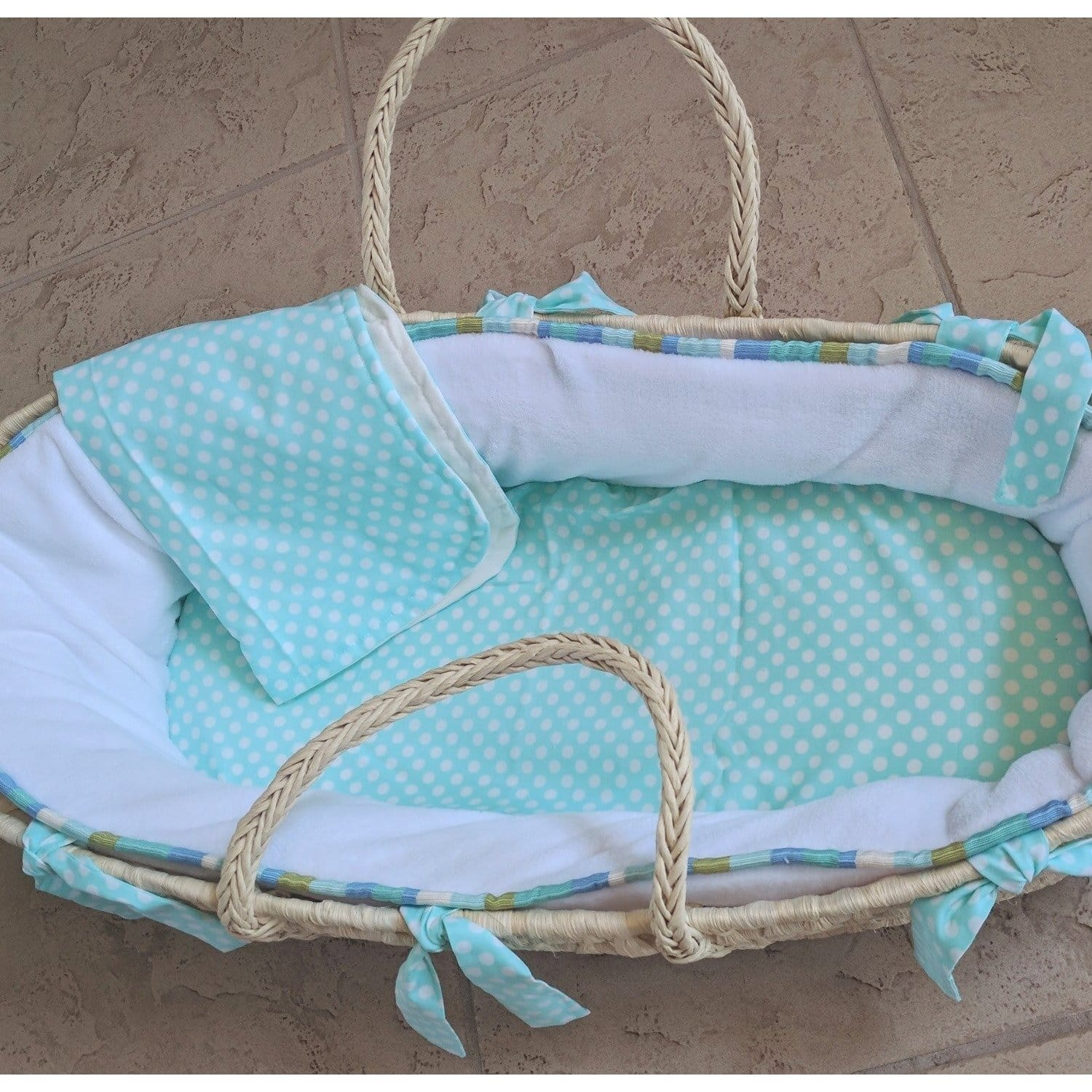 Jamie Moses Basket with Custom Bedding-Moses Basket-Default-Jack and Jill Boutique
