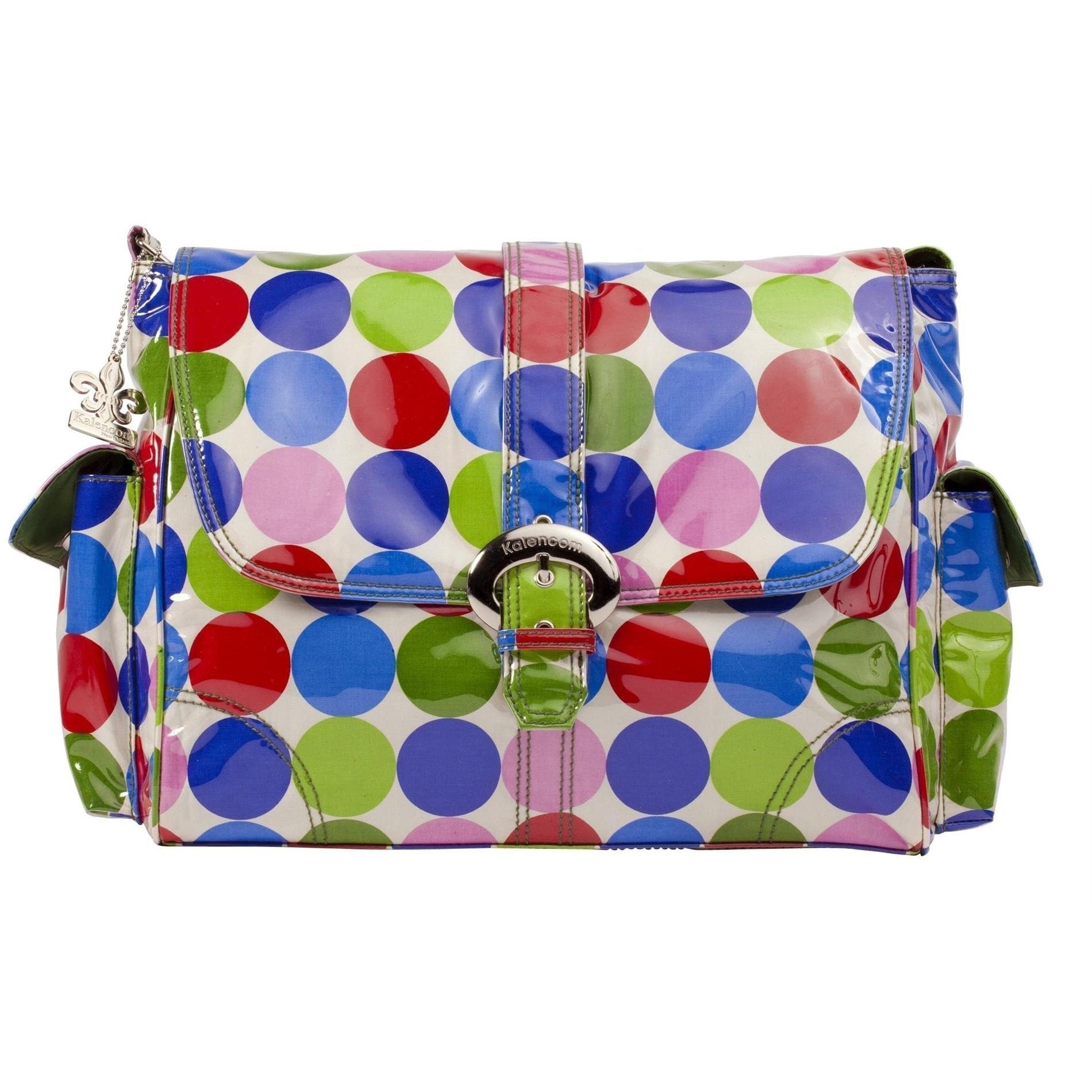 Jazz Dots Laminated Buckle Diaper Bag | Style 2960 - Kalencom-Diaper Bags-Jack and Jill Boutique