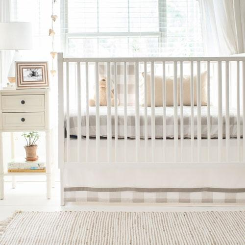 Khaki Buffalo Plaid Crib Bedding Set-Crib Bedding Set-Jack and Jill Boutique