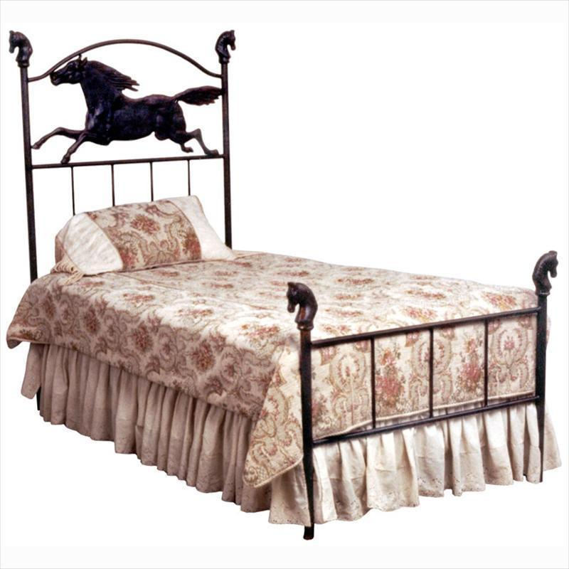 Kids Standard Bed W/ Horse-Brass Bed-Jack and Jill Boutique