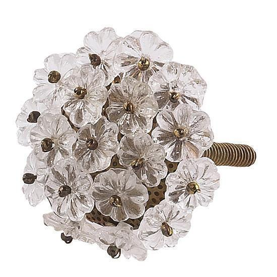 Knob/Flower Beads/Clear