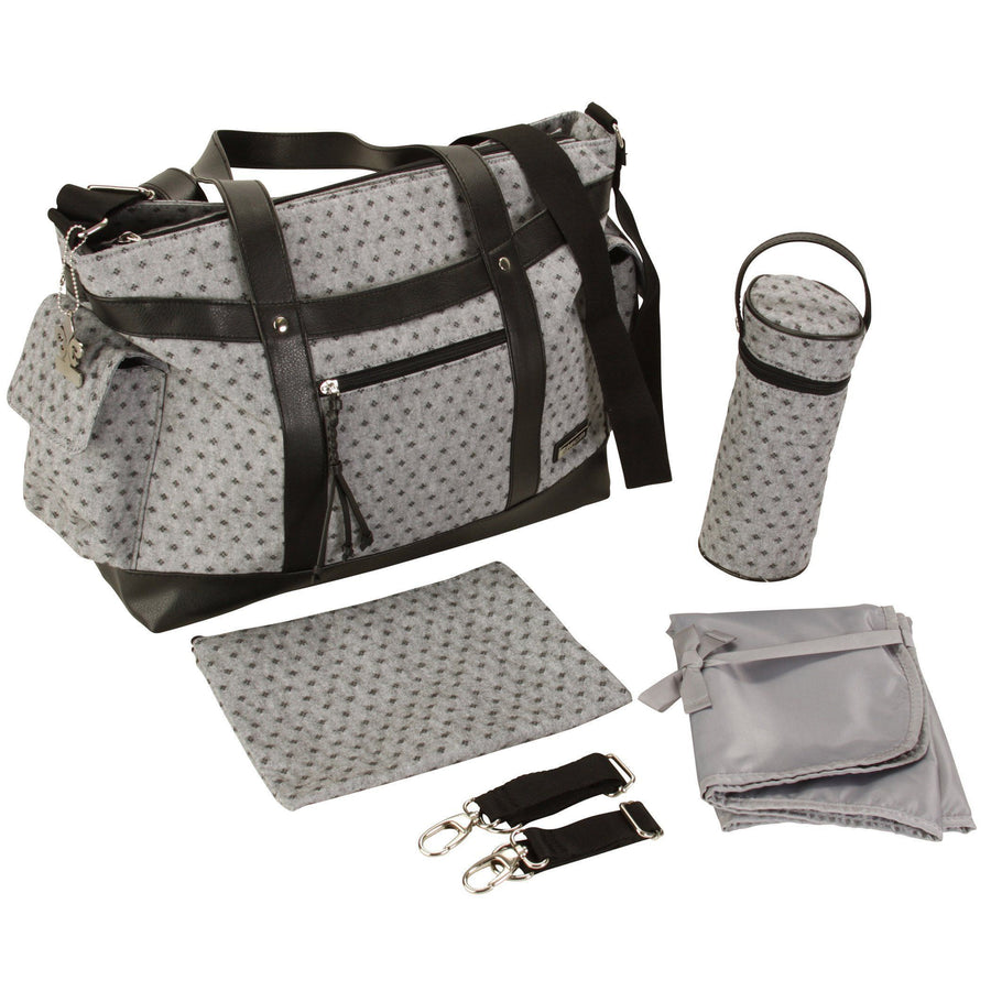 L.A. - Medallion Gray Diaper Bag | Style 3001 - Kalencom-Diaper Bags-Default-Jack and Jill Boutique