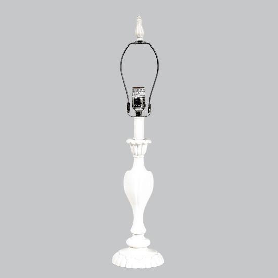 Lamp Base - LG - Curvy Candle - White-Lamp Base-Default-Jack and Jill Boutique