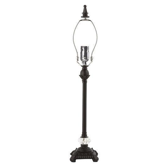 Lamp Base - Med - Scroll Glass Ball - Black-Lamp Base-Default-Jack and Jill Boutique