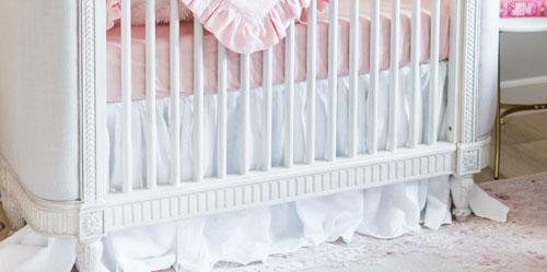 MacKenlee Faire Blush Crib Bedding Set-Crib Bedding Set-Jack and Jill Boutique