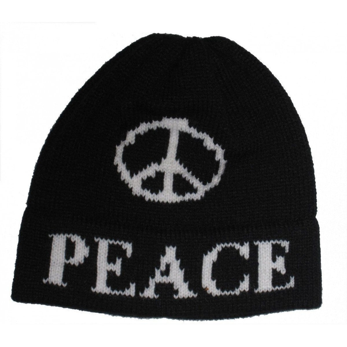 Large Peace Sign Personalized Knit Hat-Hats-Jack and Jill Boutique