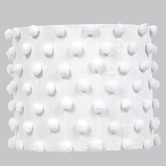 Large Shade - Drum - Pom Pom / White-Lamp Shades-Default-Jack and Jill Boutique