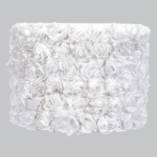 Large Shade - Drum - Solid Rose Garden - White-Lamp Shades-Default-Jack and Jill Boutique