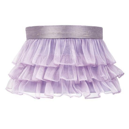 Large Shade - Ruffled Sheer Skirt - Lavender-Lamp Shades-Default-Jack and Jill Boutique