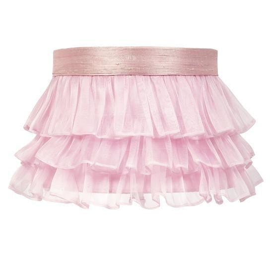 Large Shade - Ruffled Sheer Skirt - Pink-Lamp Shades-Default-Jack and Jill Boutique
