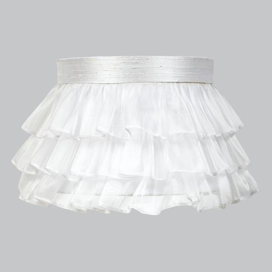 Large Shade - Ruffled Sheer Skirt - White-Lamp Shades-Default-Jack and Jill Boutique