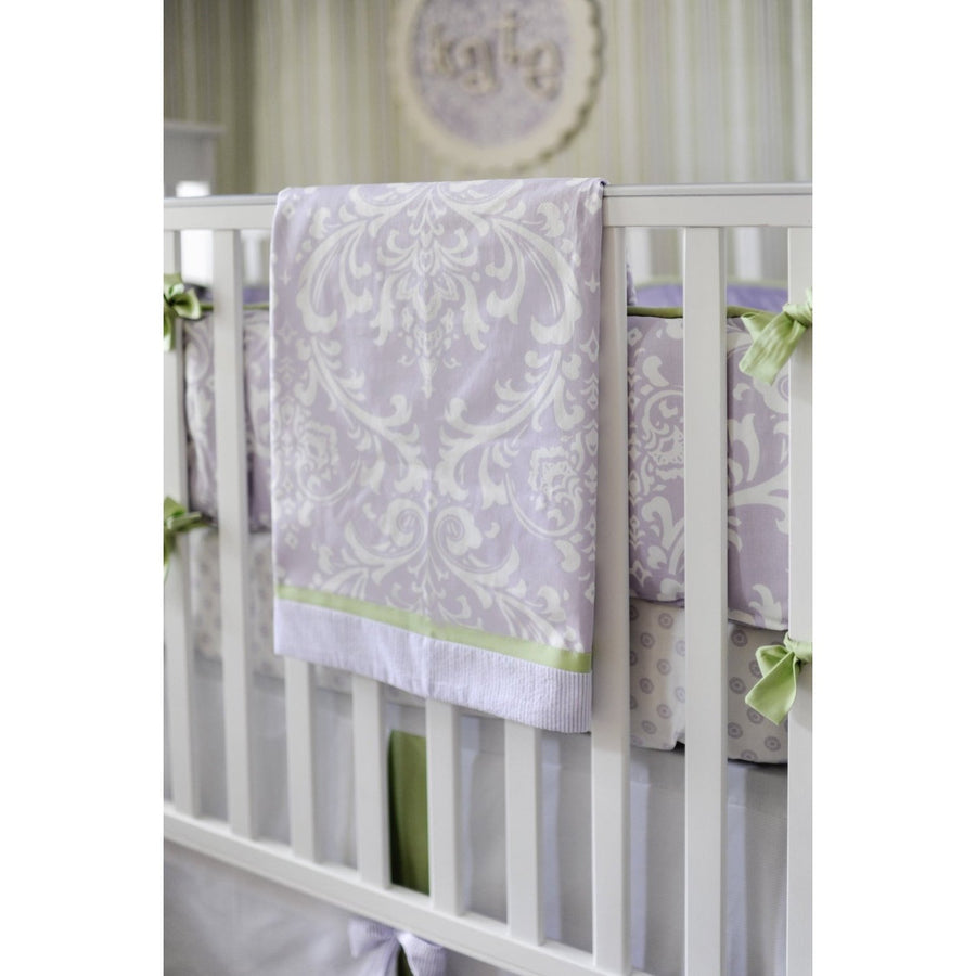 Lavender Damask Sweet Violet Baby Bedding Set