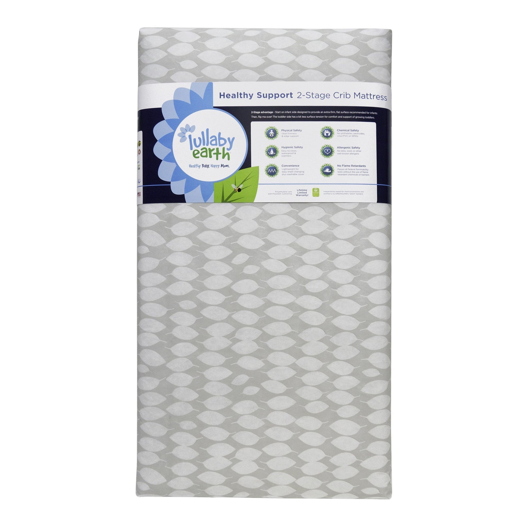 Leaf Patterns Crib Mattress-Crib Mattress-Jack and Jill Boutique