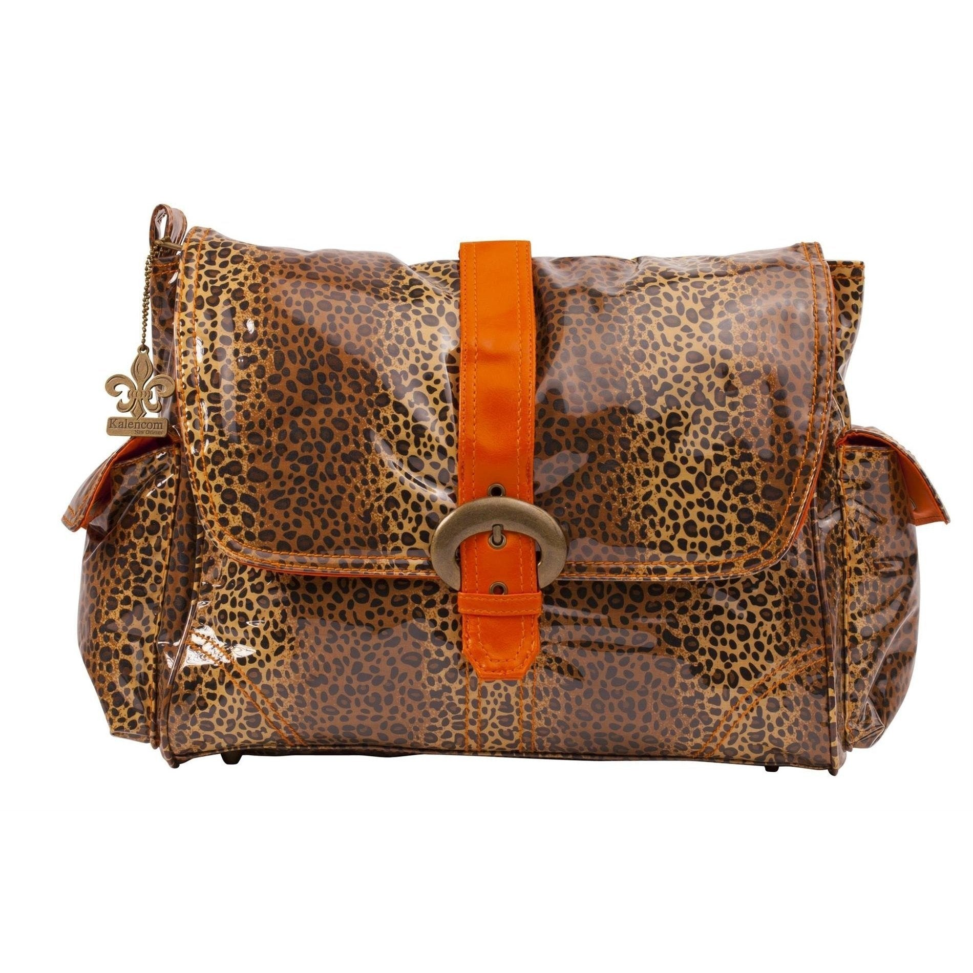 Leopard - Orange Laminated Buckle Diaper Bag | Style 2960 - Kalencom-Diaper Bags-Default-Jack and Jill Boutique