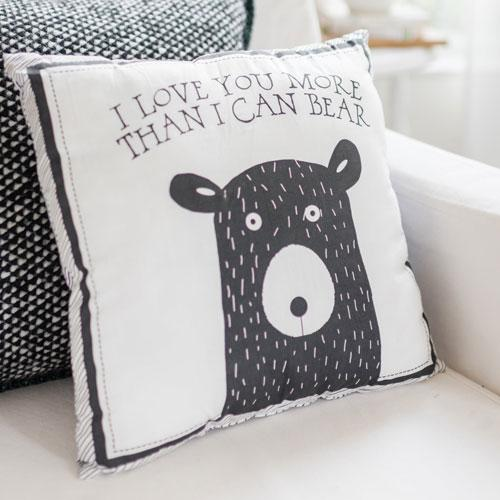 Throw Pillow | Little Black Bear Crib Bedding Set-Pillow-Default-Jack and Jill Boutique