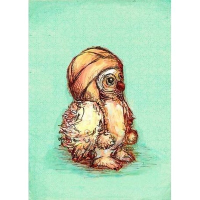 Little Owl Baby | Canvas Wall Art-Canvas Wall Art-Jack and Jill Boutique