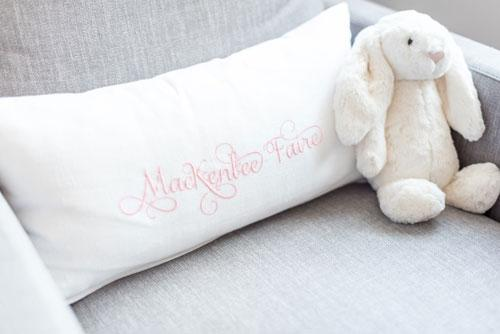 MacKenlee Faire White Linen Pillow Cover-Pillow Case-Jack and Jill Boutique