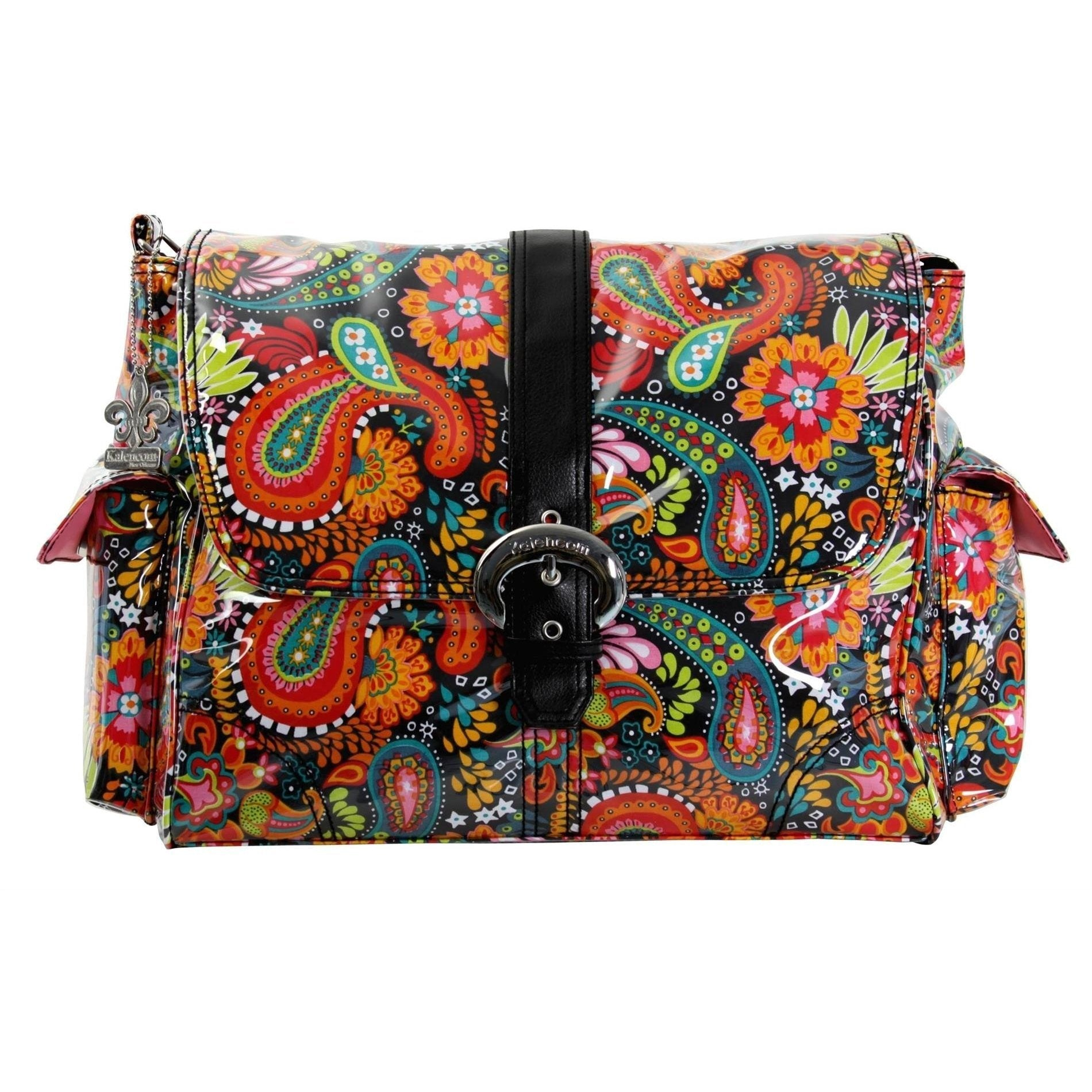 Mango Paisley Laminated Buckle Diaper Bag | Style 2960 - Kalencom-Diaper Bags-Jack and Jill Boutique