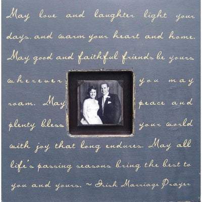 "Handmade Wood Photobox with quote ""May Love and Laughter""-Photoboxes-Default-Jack and Jill Boutique"