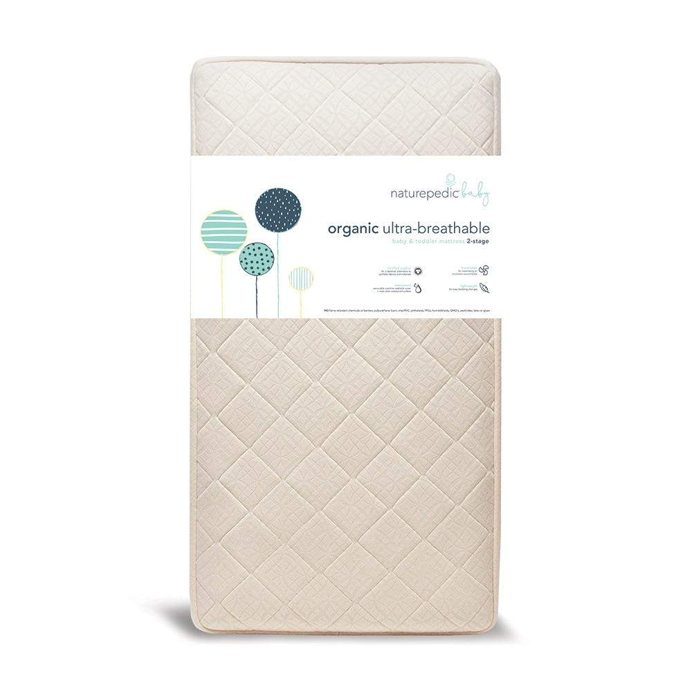 Organic Breathable Ultra 2-Stage Baby Crib Mattress-Crib Mattress-Jack and Jill Boutique