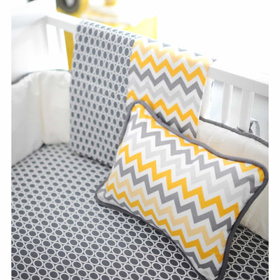 Mellow Yellow Yellow and Grey Baby Bedding Set-Crib Bedding Set-Default-Jack and Jill Boutique