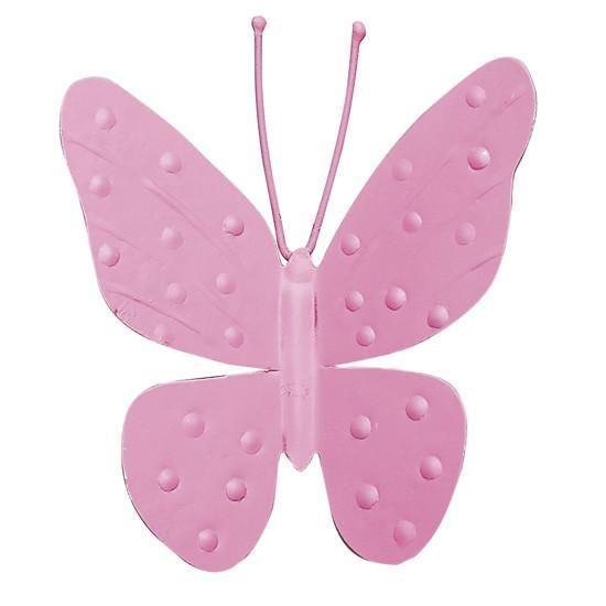 "Metal Butterfly Magnet - 4"" - Bright Pink - Set of 3-Magnets and Magnet Boards-Default-Jack and Jill Boutique"
