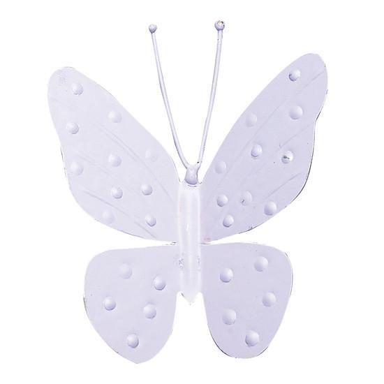 "Metal Butterfly Magnet - 4"" - Lavender - Set of 3-Magnets and Magnet Boards-Default-Jack and Jill Boutique"