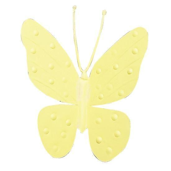 "Metal Butterfly Magnet - 4"" - Yellow - Set of 3-Magnets and Magnet Boards-Default-Jack and Jill Boutique"